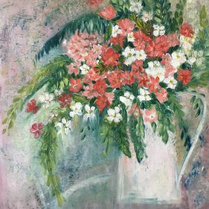 Mothers day preparation artfulness here is one of my finished pieces called vase of pink and white flowers oil on wood panel mightylinksfo