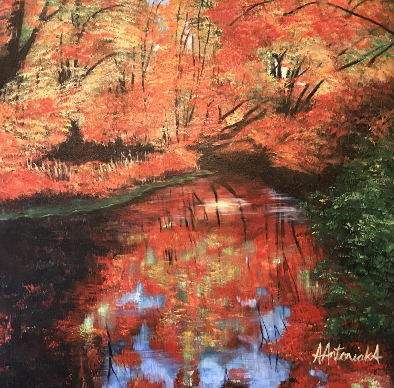 Autumn Reflections, SOLD