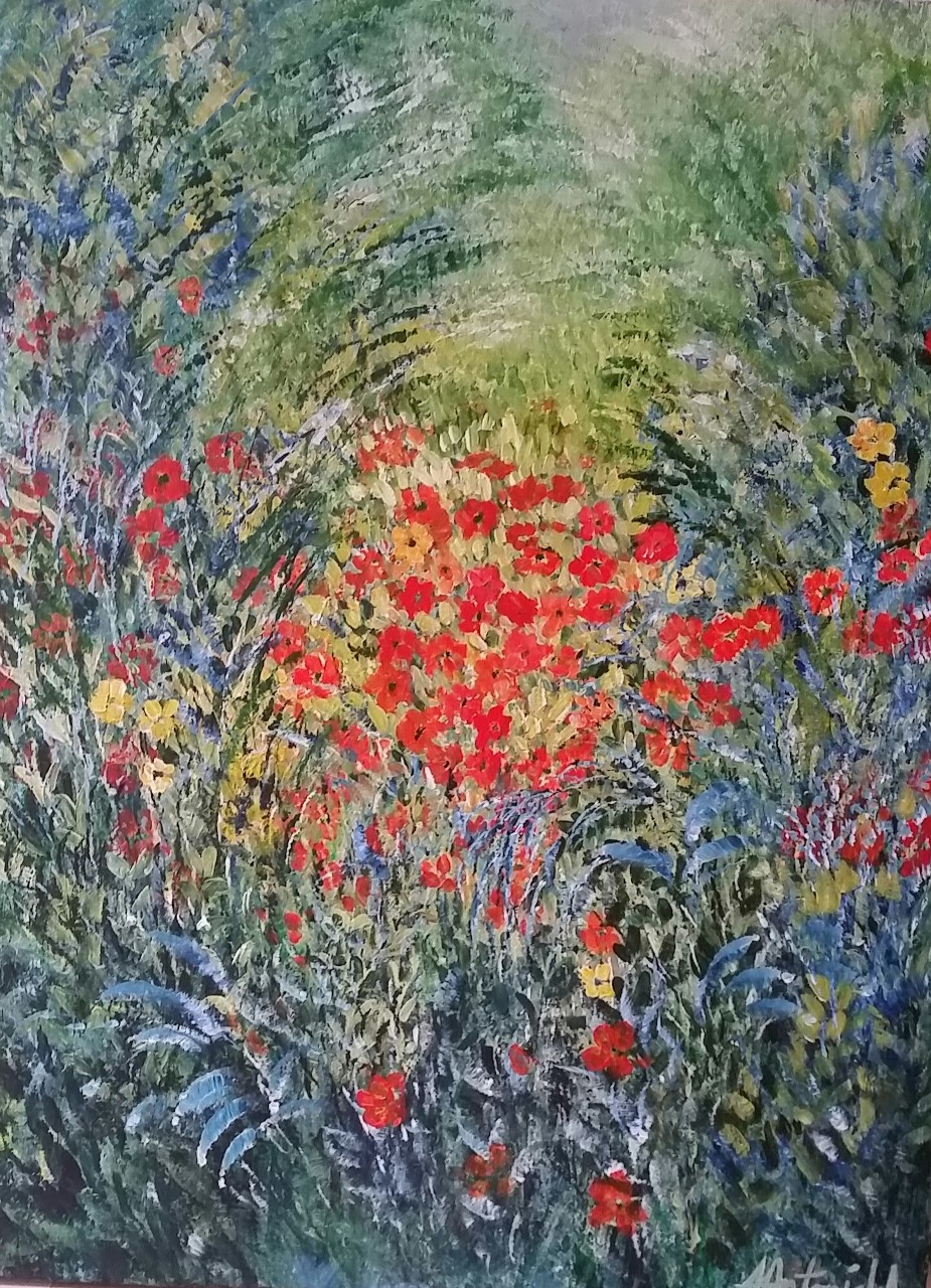 Orange Cluster in the Meadow, SOLD