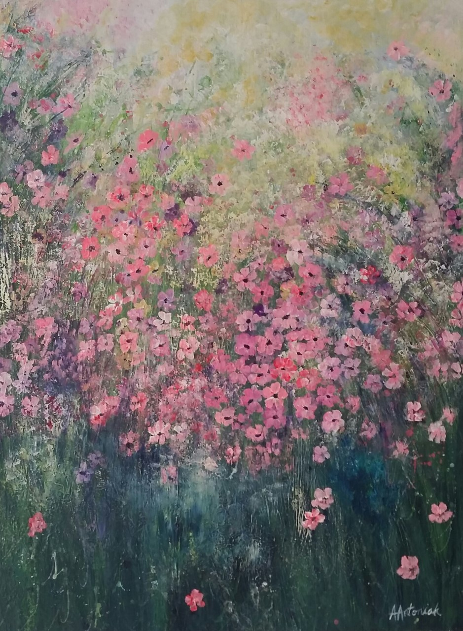 Wild Flowers in Pink, SOLD