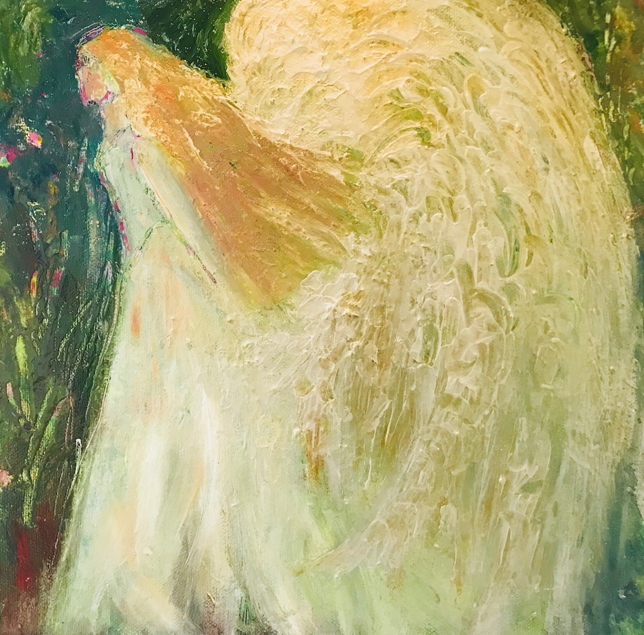 An Angel Made of Gold, Oil Painting, NOW £65, SOLD