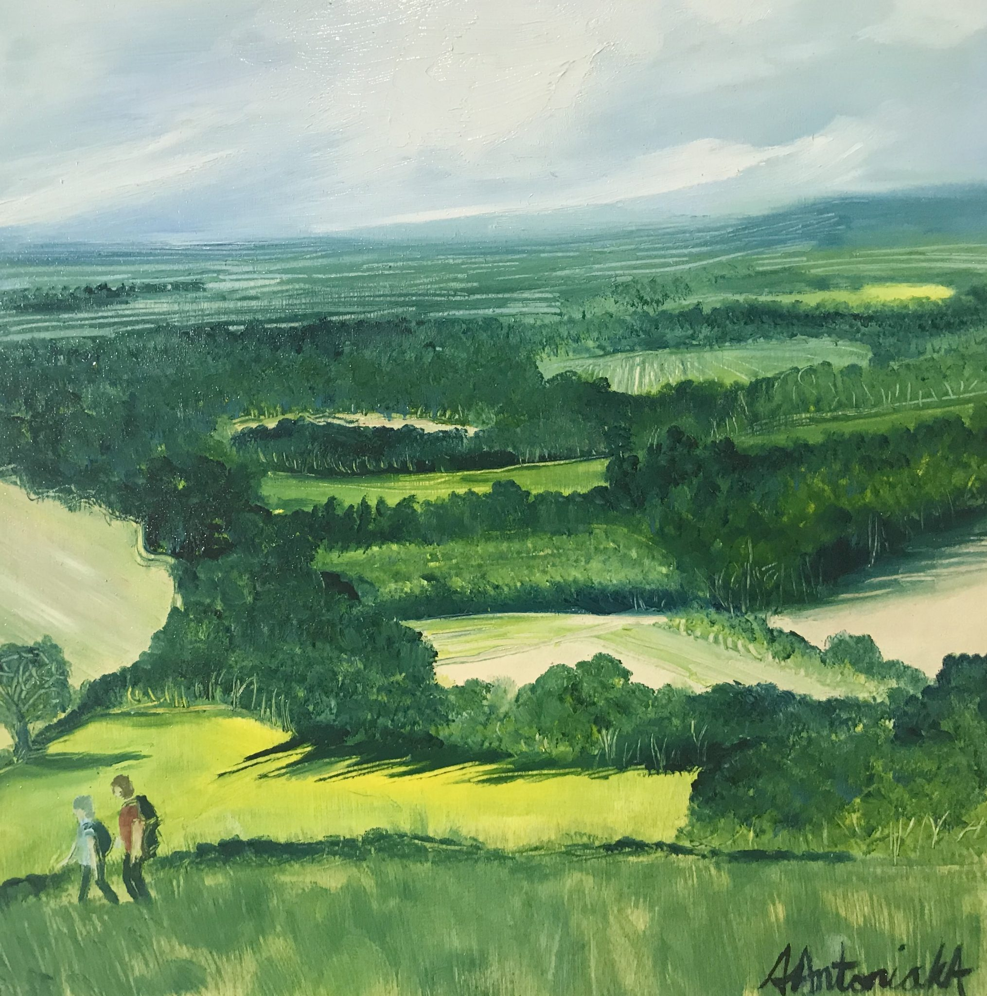 Day Out Walking, Oil Painting, NOW £90