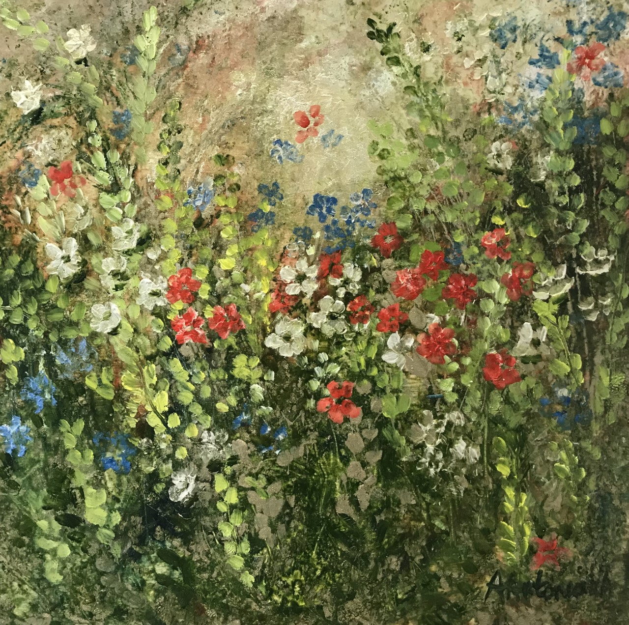 Flower Meadow of Christmas Colours (sorry, now SOLD)