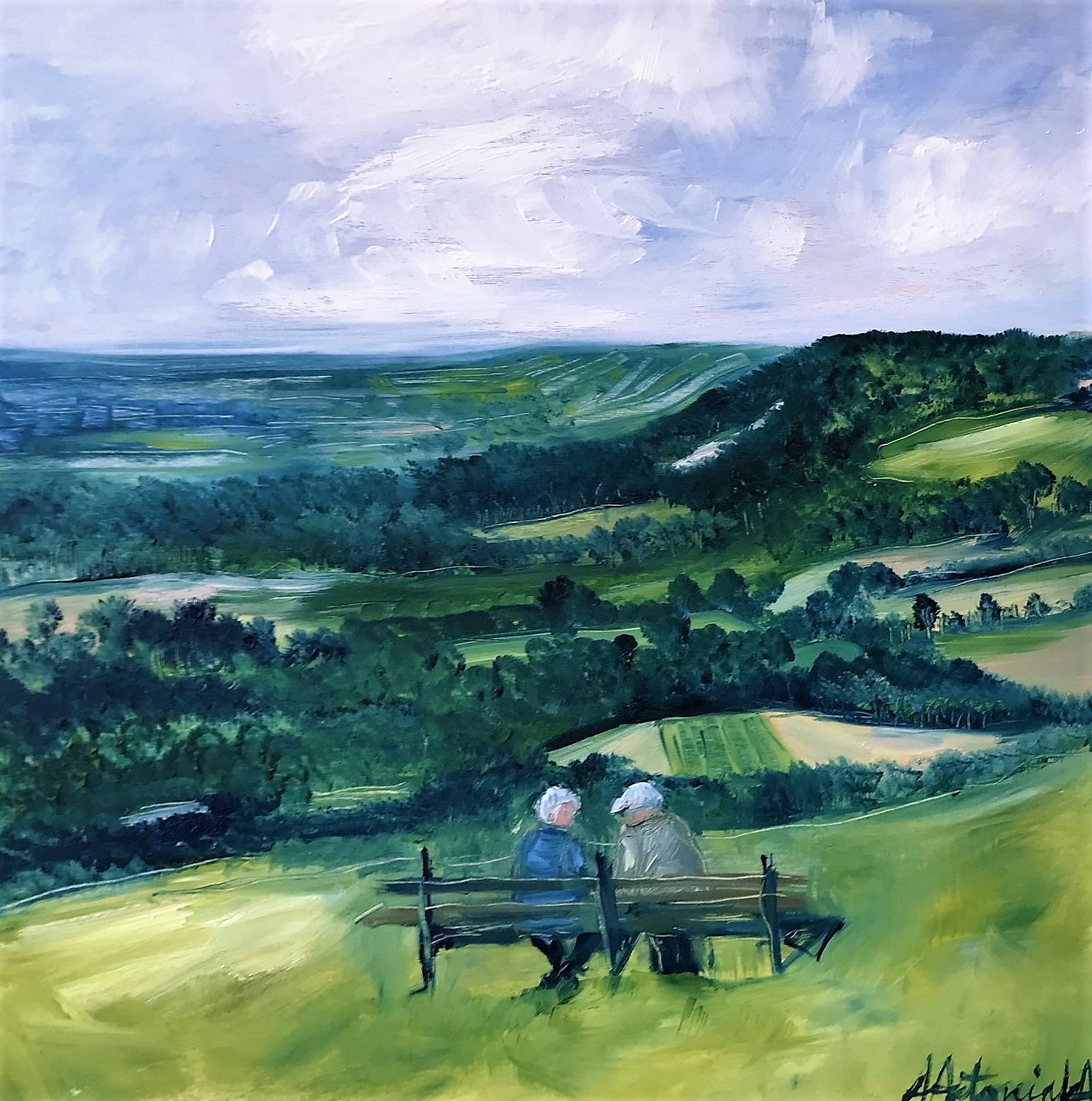 Lovely View Dear, Oil Painting, (SOLD)