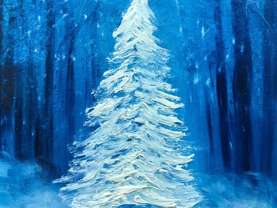 Christmas Tree, in a Snowy Woodland, £65