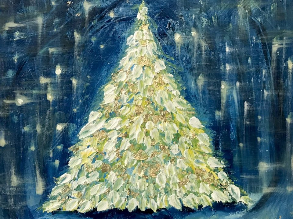 Golden Tree, Oil Painting, (SOLD)
