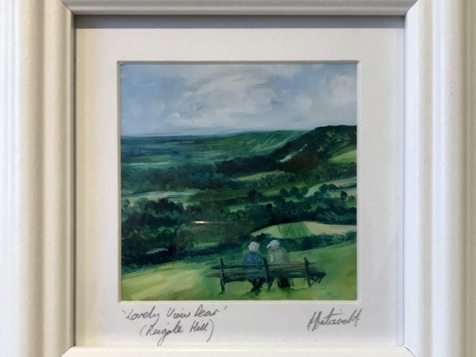 Lovely View Dear, (framed print), £45