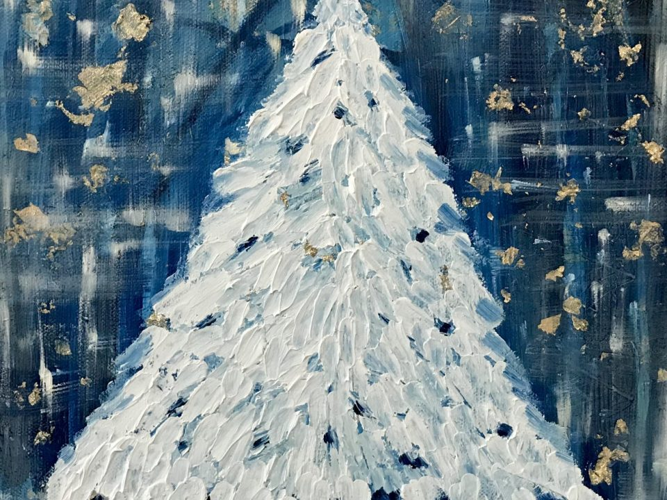 Snowy Tree, Oil Painting, £65