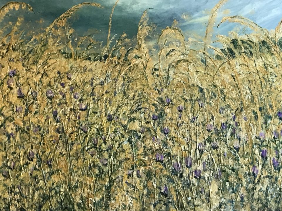 Wild Common Land, large oil painting £600