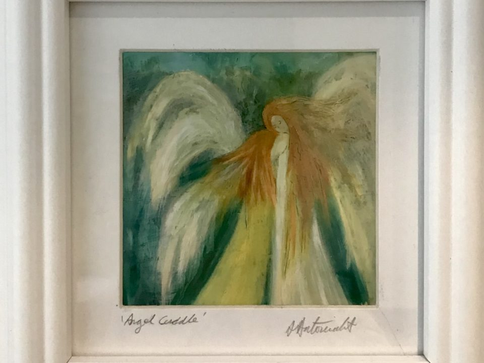 Angel Cuddle, Print, Framed, £45