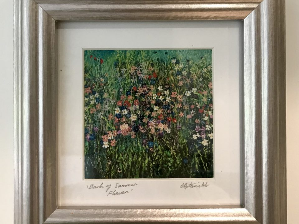 Bank of Summer Flowers, Print, Framed, £45