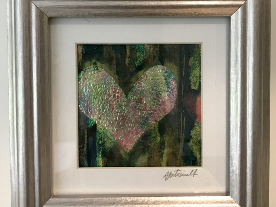 Heart Collage, Framed, £45