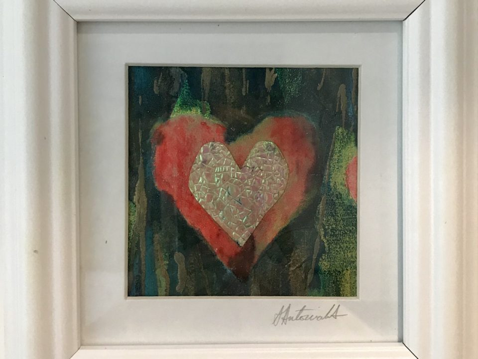 Hearts Collage, Framed, £45