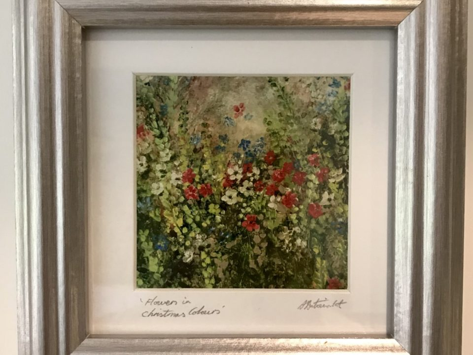 Flowers in Christmas Colours, Print, Framed, £45
