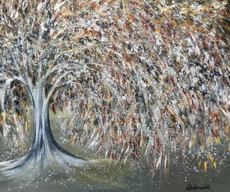 Autumn to Winter Tree, 80 x 60cm, £130 (SOLD)