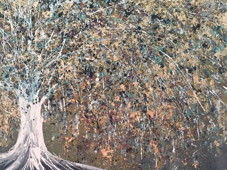 Klimt Tree, 40 x 40cm (Sold)