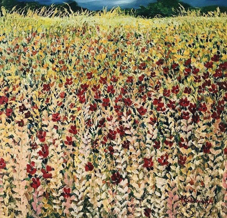 Sunset Meadow, 1m x 1m, £500