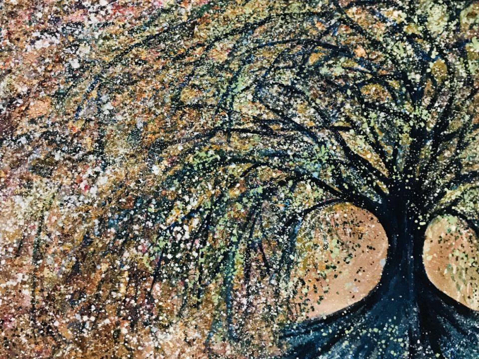 Klimt Inspired Tree, 40 x 40cm, £80