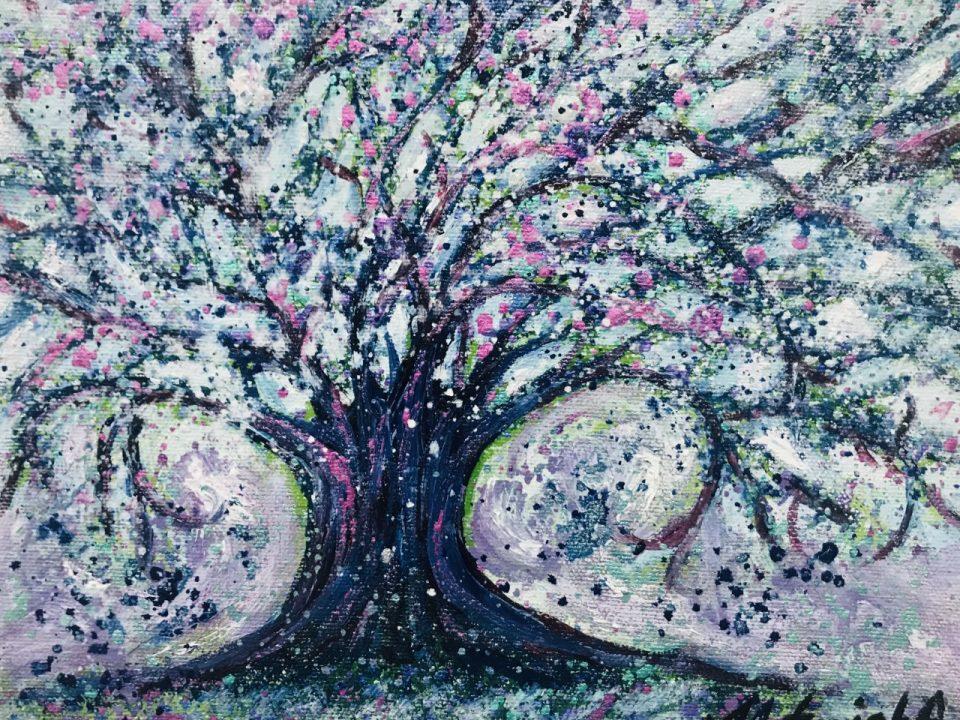 Happy Snowstorm, 26 x 20cm, (Sold)