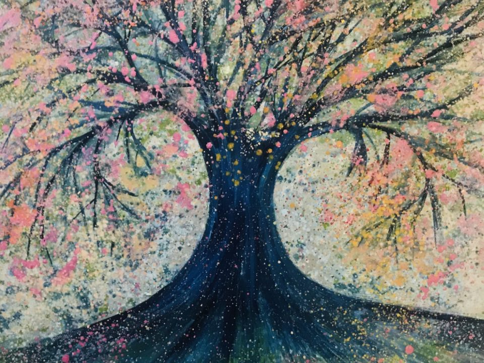 Pink Shimmer Tree, 50 x 50cm, £80