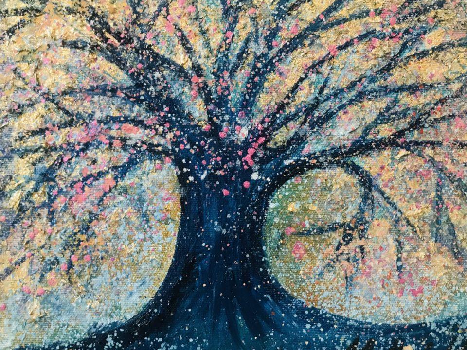 Tree with Sparkle, 26 x 20cm, £40