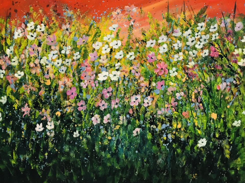 Spring Meadow Dancing, 55 x 45cm, £70