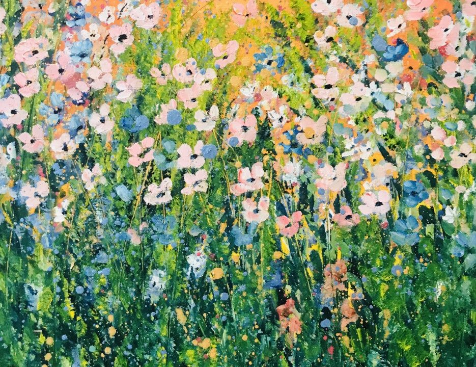 Meadow in Golden Glow, 38 x 30cm, £58