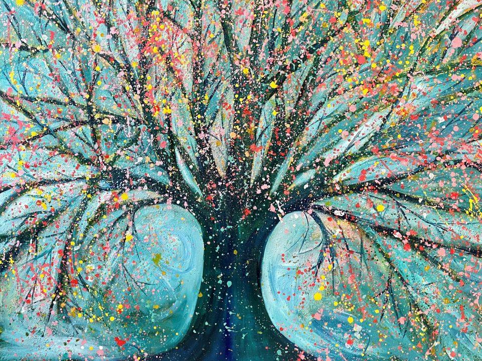 April/May Tree, 1m x 1m, £600