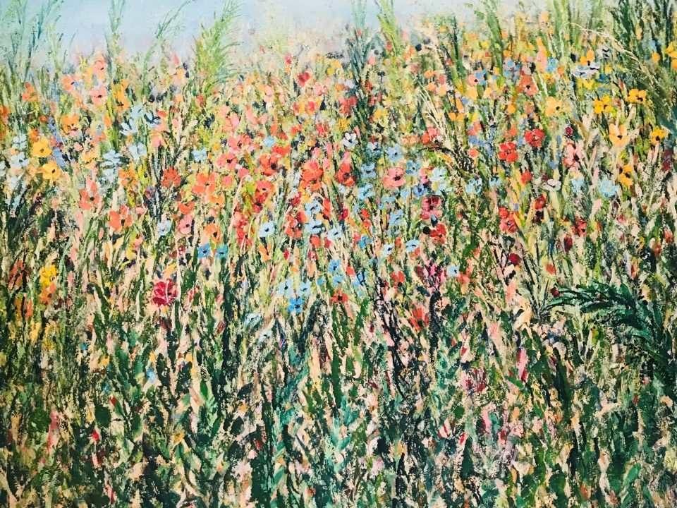 Spring Meadow, 90 x 90cm, £500