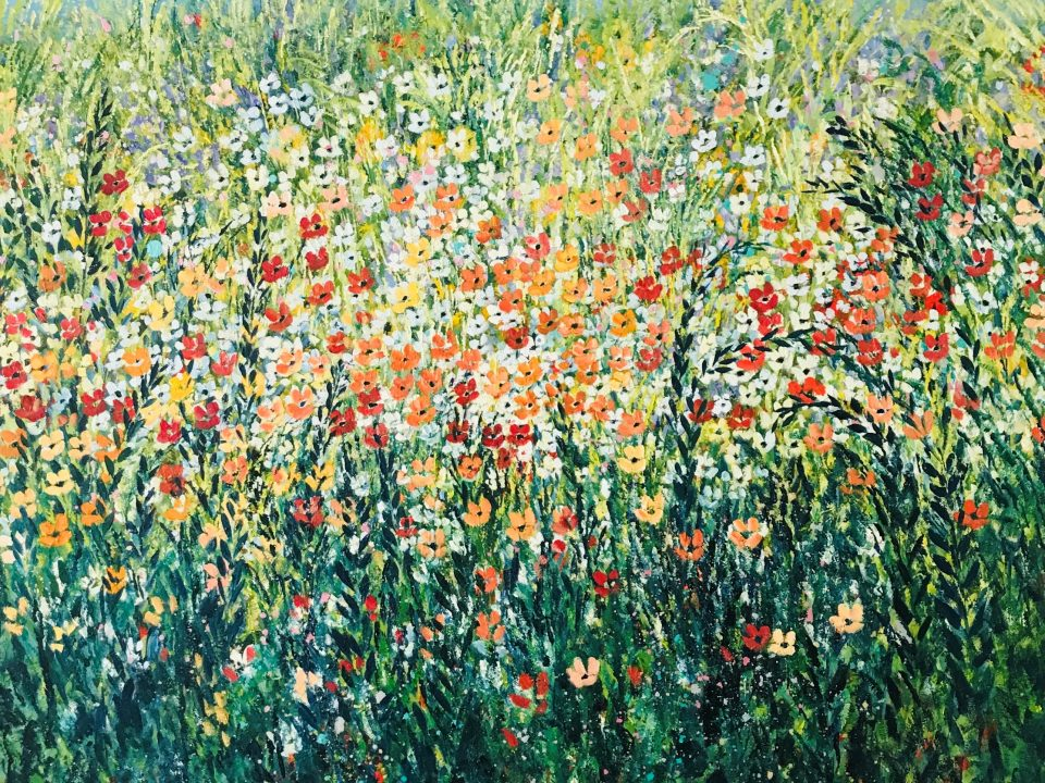 Summer Meadow, 1m x 1m, £600