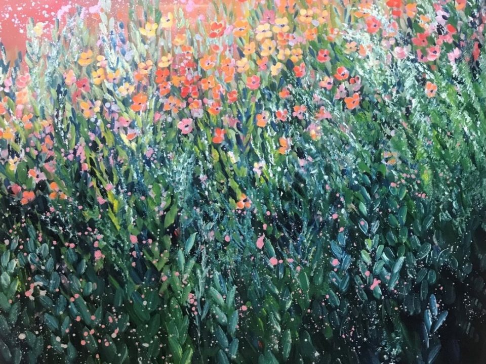 Sunset Meadow, 61 x 61cm £250