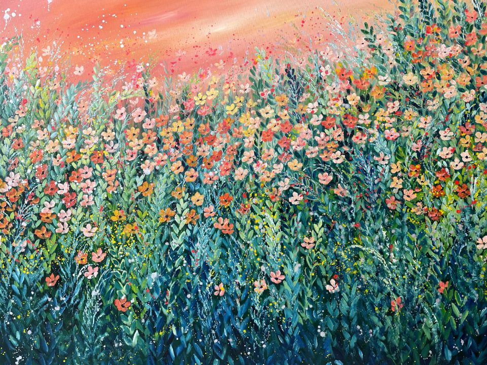 Sunset Meadow, (this painting was a commission)