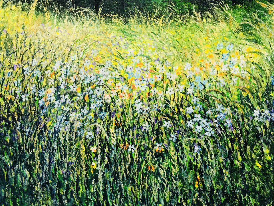 Wild Meadow with Buttercups, 1m x 1m, £600